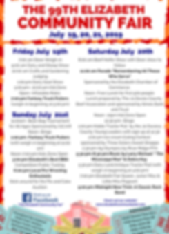 99th Elizabeth Community Fair Schedule a