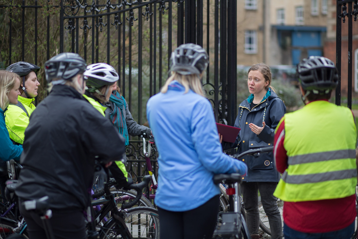 Women's History in Oxford tour for Women & Bikes 2017