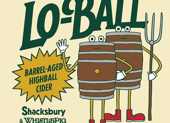 Shacksbury Lo-Ball Whistlepig (Dry Cider - 4 Pack x 16 oz.)