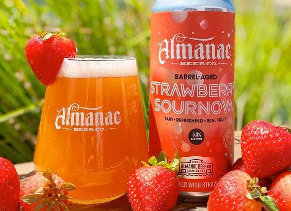 Almanac Strawberry Sournova (Wild Ale - 4 Pack x 16 oz.)