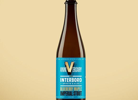 Interboro Anniversary Stout: Blueberry & Maple (Imperial Stout - Single x 16.9)