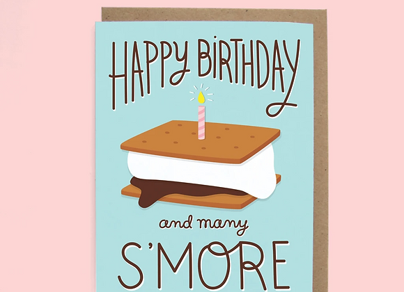 S'mores Birthday Card