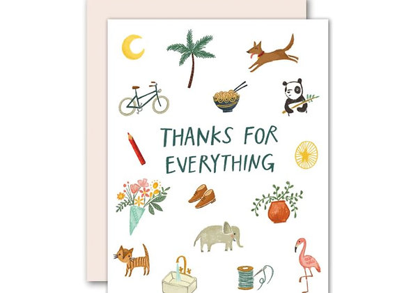 Thanks for Everything Card