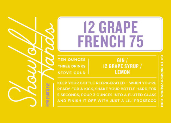 12 Grape French 75