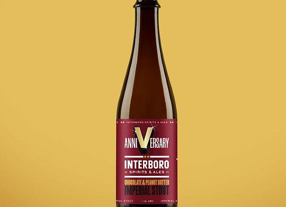 Interboro Anniversary Stout: Chocolate & PB (Imperial Stout - Single  x 16.9 oz)