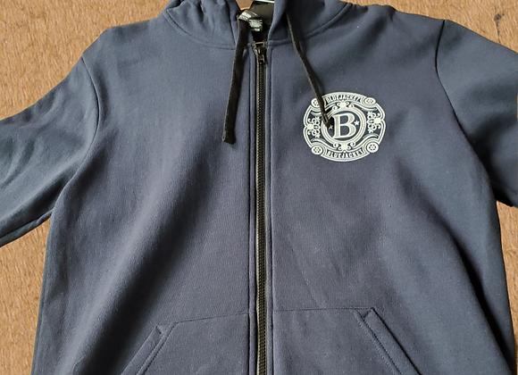 Circle Logo Zip Up Hoodie  (Navy Blue)