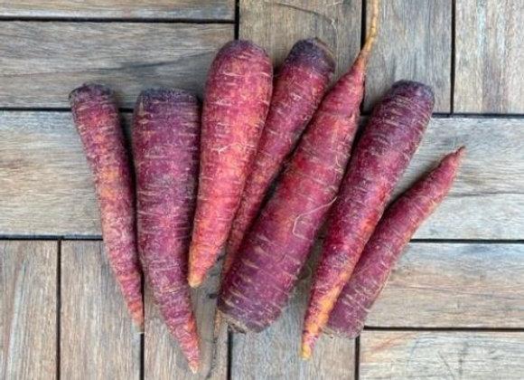 Organic Maroon Carrots (1 lb)