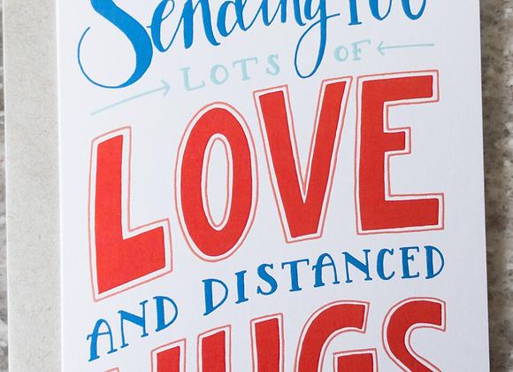 Love & Distance Hugs Card