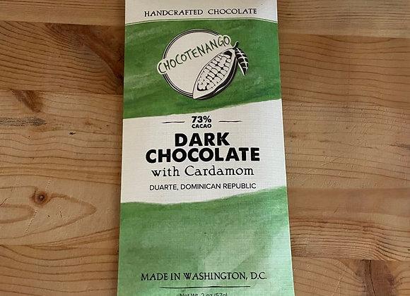 Chocotenango Dark Chocolate Bar with Cardamom