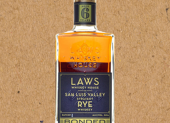 LAWS Bonded San Luis Valley Rye / Bottled-In-Bond Rye (DC ONLY - 1 PER GUEST)