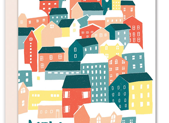 Greeting Card - New Home Houses