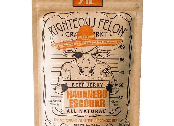 Righteous Felon Habanero Escobar Beef Jerky (2 oz)