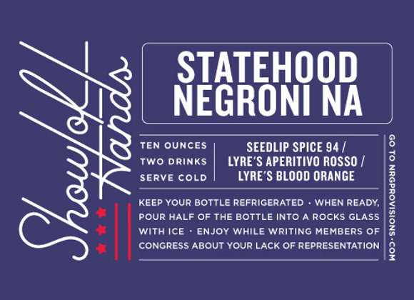 NA Statehood Negroni (serves 2)