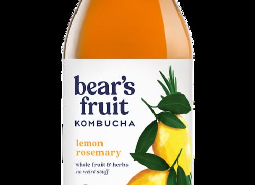 Bear's Fruit Kombucha: Lemon Rosemary (10oz)