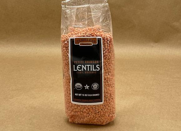 Crimson Petit Lentils - 1 lb
