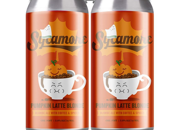 Sycamore Pumpkin Latte Blonde (Pumpkin Ale - 4 Pack x 16 oz.)