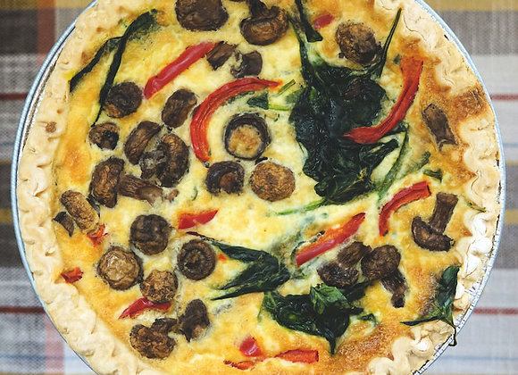 Whole Veggie Quiche (serves 6-8 - New Years)