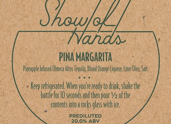 Pina Margarita - 10 oz Bottle (Serves 2) (MD)
