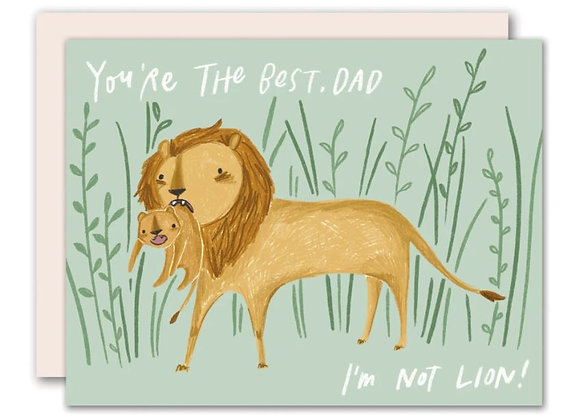 You're the Best Dad, Not Lion! Card