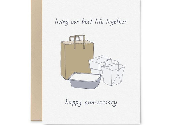 Living Our Best Lives Anniversary Card
