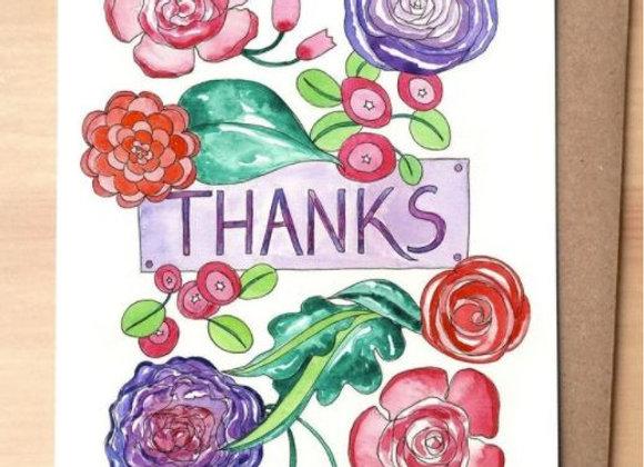 Thanks (Flowers) Card