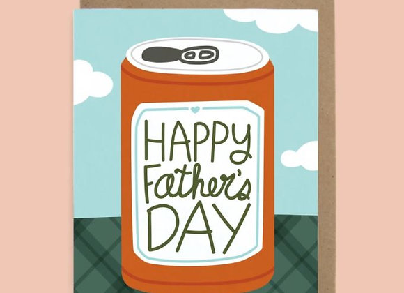 Happy Father's Day Card (Beer Can)