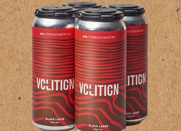 Threes Volition (Schwarzbier - 4 Pack x 16 oz.)