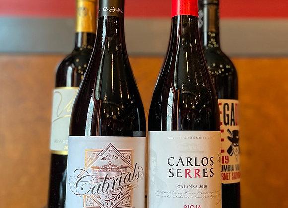 Red Hot Value Wine Pack - 4 x 750 ml Bottles