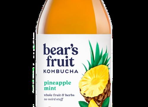 Bear's Fruit Kombucha: Pineapple Mint (10oz)