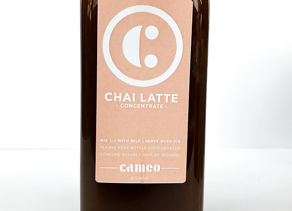 Cameo's Chai Latte Concentrate (32oz)