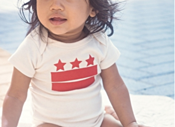 DC Flag One-Piece-Red Print / Yinibini Baby