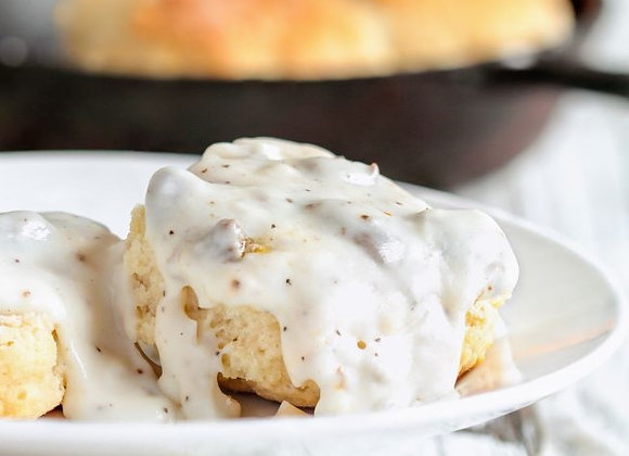 Buzz Butter Biscuits with Gravy Add-On