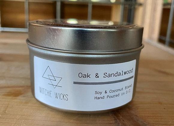 Witchie Wicks Oak & Sandalwood Candle