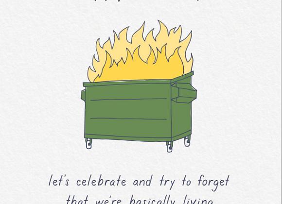 Dumpster Fire Birthday Card
