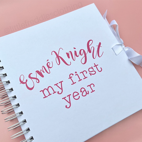 Personalised First Year Scrapbook