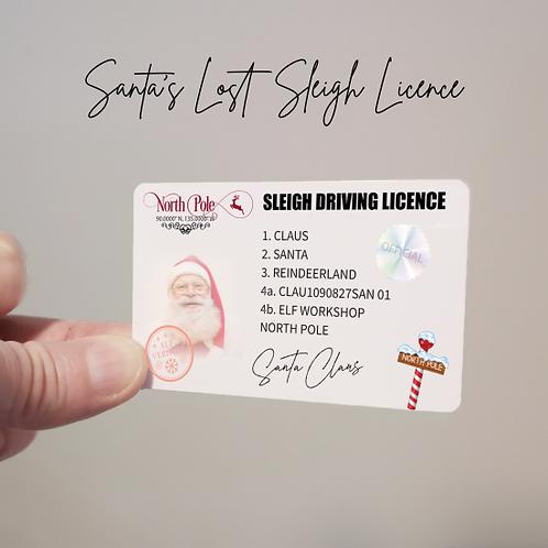 Santa Driving Licence