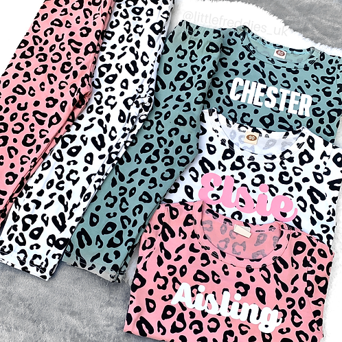 Children's Luxury Leopard Loungewear