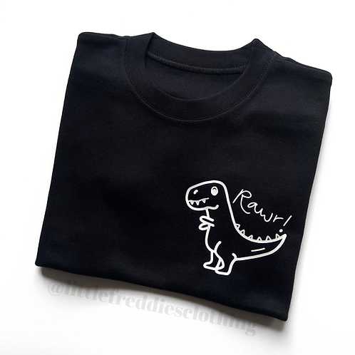 Hand Drawn Dino Pocket Tee