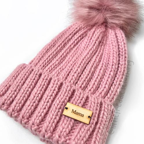 Dusty Pink Mama Hat