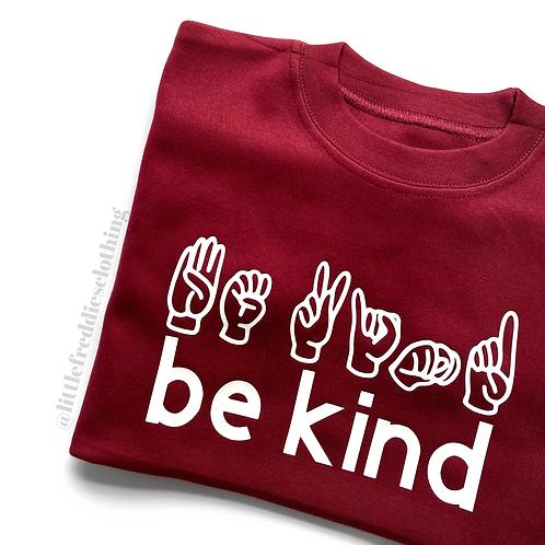 Be Kind Sign Language Tee