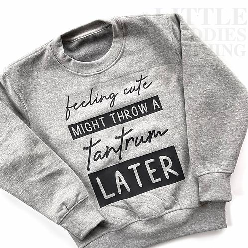 Children's Tantrum Sweatshirt