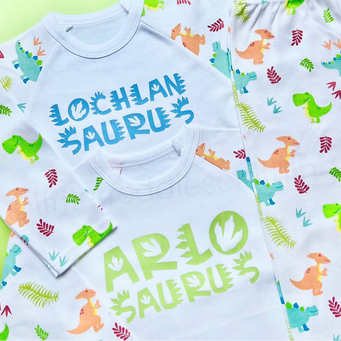 """...Saurus"" Personalised Pyjamas"