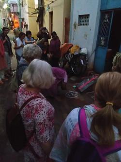 Kolam making