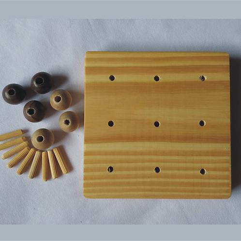 Kit para montar seu jogo Tapatan