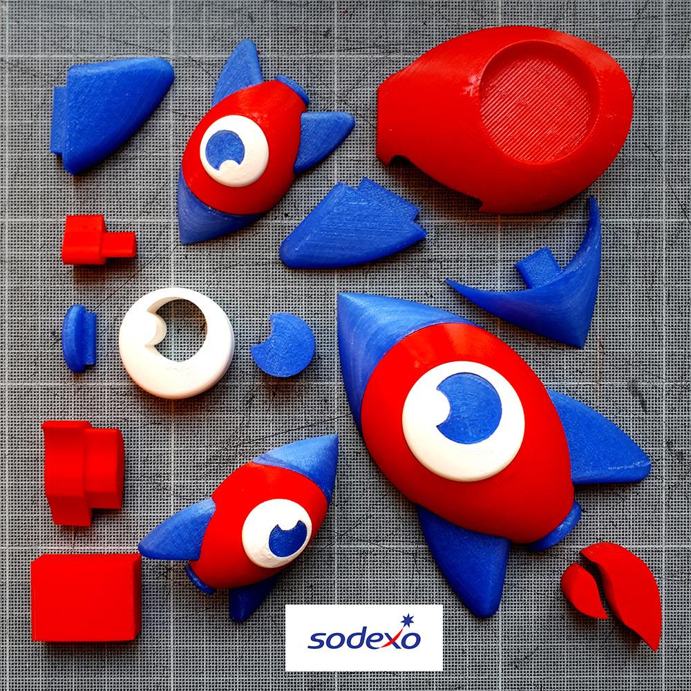 Sodexo 3dpop impression 3D trophée vrac