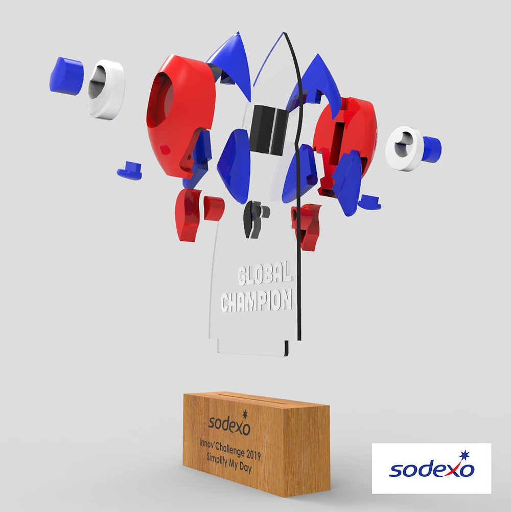 Sodexo Innov' Challenge 3dpop modélisation 3D trophée
