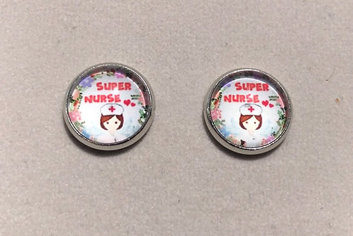 Super Nurse Stud Earrings