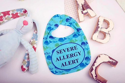 Severe Allergy - Whale Bib (Pink and Blue)