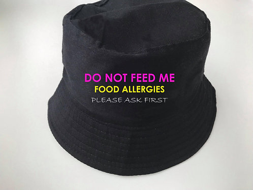 Do not feed me bucket hat