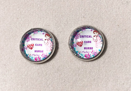 Critical Care Nurse Stud Earrings